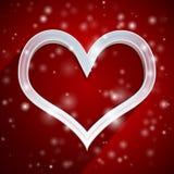 Fondo di applique del cuore Fotografia Stock