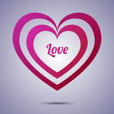 Fondo di applique del cuore Illustrazione di vettore per Royalty Illustrazione gratis
