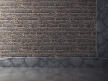 Fondo di architettura del muro di cemento del mattone di progettazione Fotografia Stock Libera da Diritti