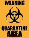 Fondo di area di quarantena di rischio biologico royalty illustrazione gratis