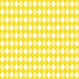 Fondo di Argyle, carta digitale gialla, modello del argyle Immagine Stock