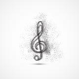Fondo di arte dell'icona della nota di musica royalty illustrazione gratis
