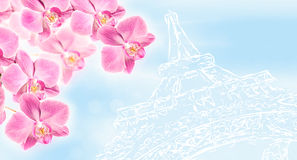 Fondo di arte di Parigi con Immagini Stock