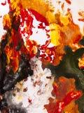 Fondo di astrattismo, pittura di struttura Immagini Stock