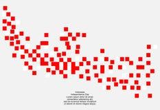 Fondo di 17 August Indonesia Independence Day Illustrazione di vettore delle bandiere Fotografia Stock Libera da Diritti