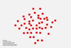 Fondo di 17 August Indonesia Independence Day Illustrazione di vettore delle bandiere Immagine Stock
