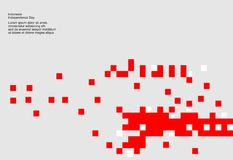 Fondo di 17 August Indonesia Independence Day Illustrazione di vettore delle bandiere Immagini Stock Libere da Diritti