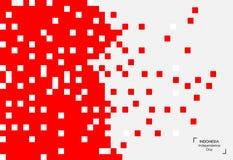 Fondo di 17 August Indonesia Independence Day Illustrazione di vettore delle bandiere Fotografie Stock