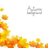 Fondo di autunno illustrazione di stock