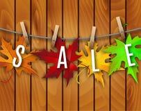 Fondo di autunno con le foglie Immagini Stock Libere da Diritti