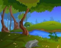 Fondo di autunno del fumetto per un'arte del gioco Immagine Stock