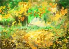 Fondo di autunno della pittura di CG Immagini Stock