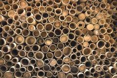 Fondo di bambù della sezione Fotografie Stock Libere da Diritti