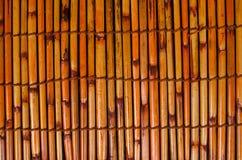 Fondo di bambù della stuoia Fotografia Stock