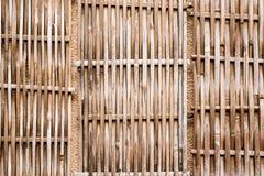 Fondo di bambù di legno Immagini Stock