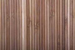Fondo di bambù di legno nel colore marrone Immagini Stock Libere da Diritti