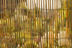 fondo di bambù di struttura della parete o del recinto per l'interno o la progettazione esteriore Fotografie Stock