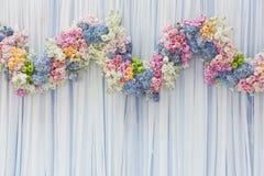 Fondo di bello fiore per la decorazione di nozze Fotografia Stock