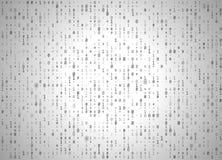 Fondo di bianco di codice binario di vettore Grandi dati ed incisione, decrittazione e crittografia di programmazione, computer c illustrazione vettoriale