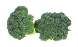 Fondo di bianco degli ornamenti dei broccoli immagine stock
