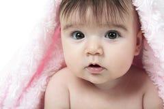 Fondo di bianco del bambino Immagini Stock Libere da Diritti