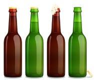 Fondo di bianco della bottiglia Fotografia Stock