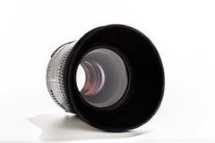 fondo di bianco della lente di 50mm Fotografia Stock