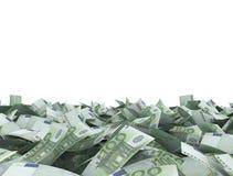 Fondo di bianco delle note dell'euro 100 Fotografia Stock Libera da Diritti
