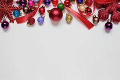 Fondo di bianco di Natale Fotografia Stock