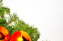 Fondo di bianco di Natale e di notte di San Silvestro Fotografia Stock Libera da Diritti