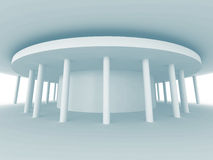 Fondo di bianco di progettazione di architettura della colonna Fotografie Stock Libere da Diritti