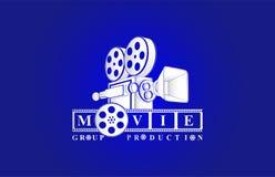 Fondo di bianco di logo del cinema royalty illustrazione gratis