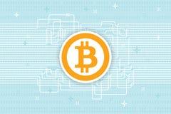 Fondo di Bitcoin Blockchain Cryptocurrency Immagine Stock