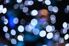 Fondo di Bokeh dalla luce di Natale Immagini Stock Libere da Diritti