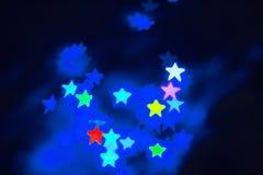 Fondo di Bokeh della stella immagini stock libere da diritti