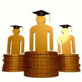 Fondo di borsa e simbolo di graduazione Immagine Stock Libera da Diritti