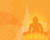 Fondo di buddismo Fotografia Stock