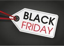 Fondo di buio di Black Friday dell'autoadesivo di prezzi Fotografie Stock