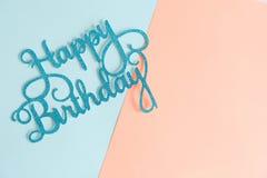 Fondo di buon compleanno, saluti del biglietto di auguri per il compleanno Fotografia Stock Libera da Diritti