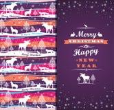 Fondo di Buon Natale con tipografia Immagini Stock