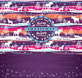 Fondo di Buon Natale con tipografia Immagine Stock