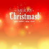 Fondo di Buon Natale del bokeh di vettore Indicatori luminosi Defocused Illustrazione vaga estratto Immagini Stock Libere da Diritti