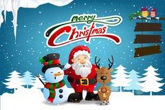 Fondo di Buon Natale per la cartolina d'auguri, il vettore e l'illustrazione illustrazione vettoriale