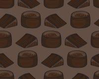 Fondo di Cack del cioccolato Fotografia Stock