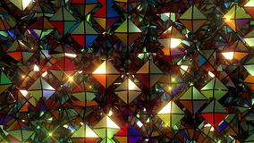 Fondo di caduta dei mosaici archivi video