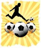 Fondo di calcio Fotografie Stock Libere da Diritti