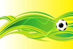 Fondo di calcio Fotografia Stock
