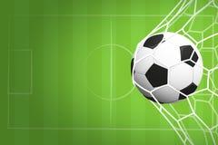 Fondo di calcio o di calcio Fotografie Stock