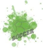 Fondo di calcio o di calcio Fotografia Stock
