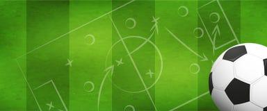 Fondo di calcio o di calcio Immagini Stock Libere da Diritti